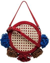 Mehry Mu - Multicoloured Tambourine Straw And Suede Satchel Bag - Lyst