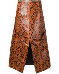 Marni - Snake Print A-line Midi Skirt - Lyst