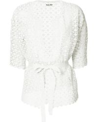 Max & Moi - Openwork Lace Belted Cardigan - Lyst