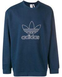 adidas - Outline Crewneck Sweatshirt - Lyst