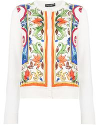 Dolce & Gabbana - Majolica Print Cardigan - Lyst