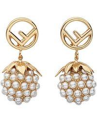 Fendi - Embellished Fruit Earrings - Lyst