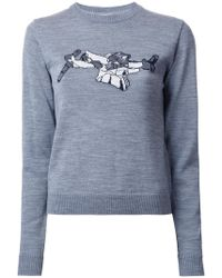 Julien David - Intarsia Detail Jumper - Lyst