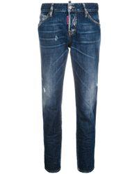 DSquared² - Be Nice Straight-leg Denim Jeans - Lyst