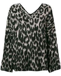 Stella McCartney - Textured Leopard Print Jumper - Lyst
