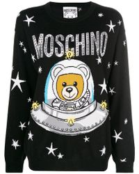 Moschino - Teddy Logo Sweater - Lyst