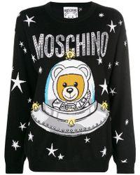 Moschino - Teddy Logo Jumper - Lyst