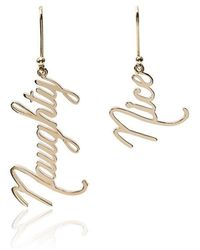 Established - 14kt Yellow Gold Naughty And Nice Earrings - Lyst