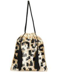 Attico - Full Sequin Leopard Pouch Bag - Lyst