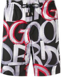 Dolce & Gabbana - Slip de bain à logo imprimé - Lyst