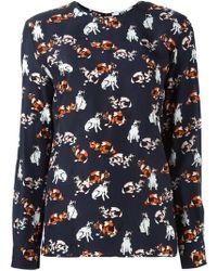 MSGM - Cat Print Longsleeved T-shirt - Lyst