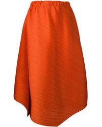 Pleats Please Issey Miyake - Micro-pleated Asymmetric Skirt - Lyst