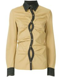 Rosie Assoulin - Curved Placket Shirt - Lyst