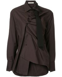 Aganovich - Asymmetric Fitted Shirt - Lyst