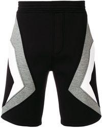 Neil Barrett - Pantalones cortos de chándal a paneles - Lyst