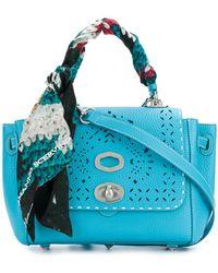 Ermanno Scervino - Scarf-wrapped Pointelle Detail Shoulder Bag - Lyst