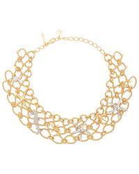 Oscar de la Renta - Fishnet Star Fish Necklace - Lyst