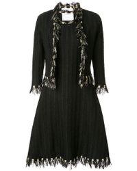 Oscar de la Renta - Fringed Dress And Jacket Set - Lyst