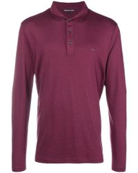 Michael Kors - Longsleeved Polo Shirt - Lyst