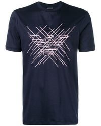 Emporio Armani - Embroidered Logo T-shirt - Lyst