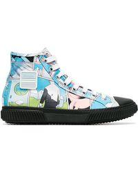 Prada - Comic Print Sneakers - Lyst