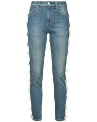 Tu Es Mon Tresor - Bow Trim Jeans Short Length - Lyst