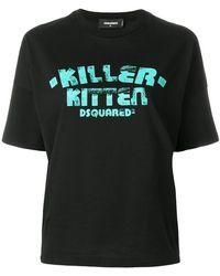 DSquared²   Killer Kitten T-shirt   Lyst