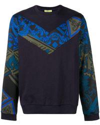 Versace Jeans - Printed Insert Jumper - Lyst