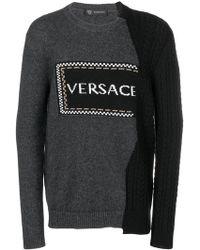 Versace - Asymmetric Logo Jumper - Lyst
