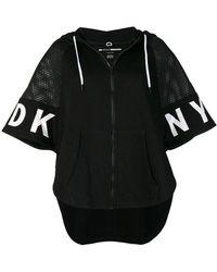 DKNY - Net Insert Short Sleeve Hoodie - Lyst