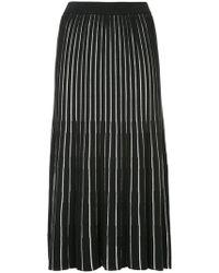 G.v.g.v - Sheer Stripe Knitted Skirt - Lyst