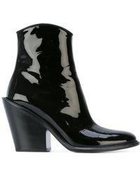 A.F.Vandevorst - Slanted Heel Ankle Boots - Lyst