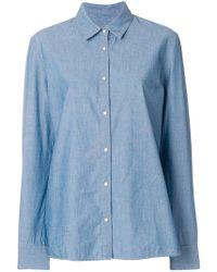 Pinko - Fringed Denim Shirt - Lyst
