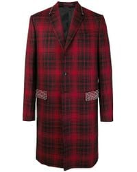 Valentino - Studded Check Coat - Lyst