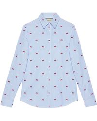 Gucci - Panthers Fil Coupé Shirt - Lyst