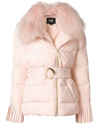 Class Roberto Cavalli - Belted Puffer Jacket - Lyst