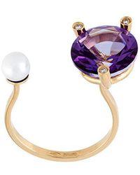 Delfina Delettrez - 'magic Triangle Piercing' Diamond Ring - Lyst
