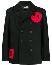 Love Moschino - Contrast Double-breasted Coat - Lyst