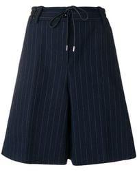 Sacai - Striped Pleated Shorts - Lyst