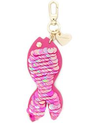Twin Set - Sequin Fish Keyring - Lyst
