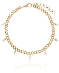 SHAY - 18k Yellow Gold Baguette Diamond Anklet - Lyst
