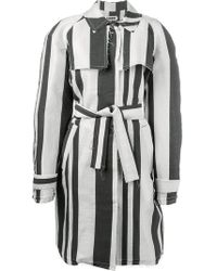 Etienne Deroeux - Raw Edge 'martine' Trench Coat - Lyst
