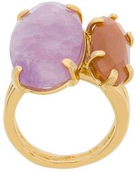 Wouters & Hendrix | Technofossils Amethyst And Sunstone Ring | Lyst