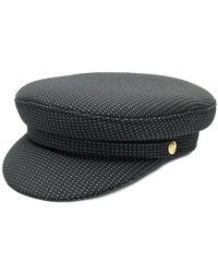 Manokhi - Dot Print Biker Hat - Lyst