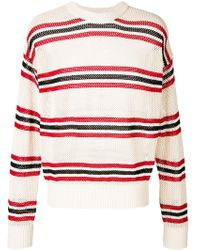 Laneus - Long Sleeved Striped Pullover - Lyst