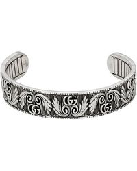 Gucci - Bracelet With Double G And Leaf Motif - Lyst