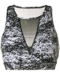 DKNY - Fitted Sports Bra Top - Lyst