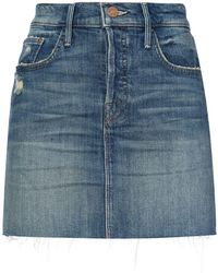 Mother - Denim Mini Skirt - Lyst