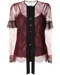 Twin Set - Ruffled Lace Midi Dress - Lyst