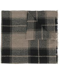 Rick Owens - Checked Printed Scarf - Lyst